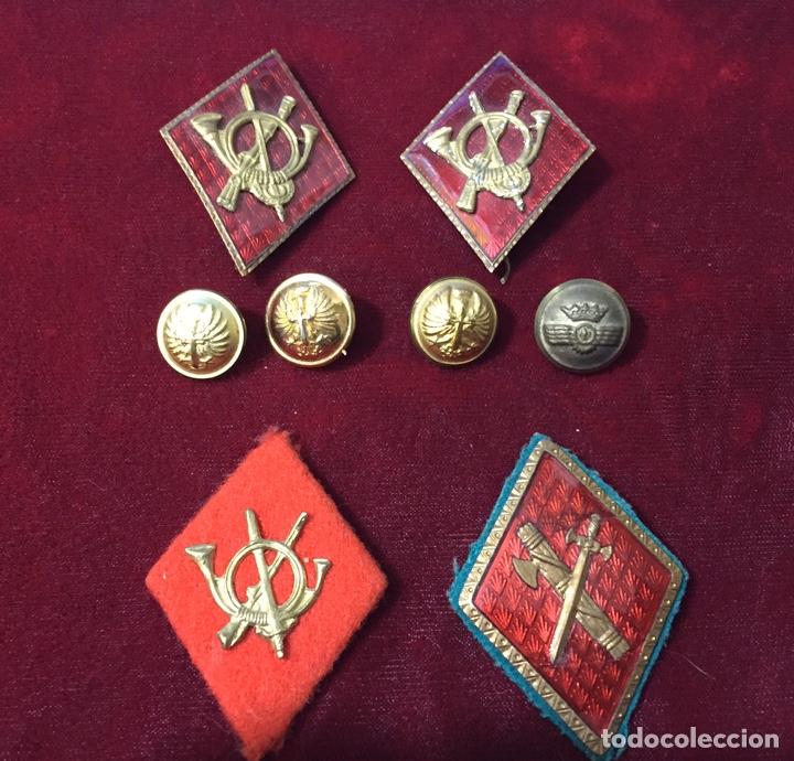 LOTE INSIGNIAS MILITARES POSTGUERRA CIVIL (Militar - Insignias Militares Españolas y Pins)