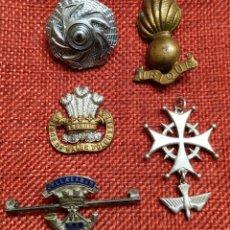 Militaria: ORIGINAL - LOTE DE INSIGNIAS BRITÁNICAS - REINO UNIDO - CANADÁ - DINAMARCA - POSTGUERRA COMMONWEALT. Lote 191593406
