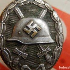 Militaria: EIO. ALEMANIA. DISTINTIVO DE HERIDO. CATEGORÍA PLATA. TERCER REICH. II GUERRA MUNDIAL.. Lote 191615875