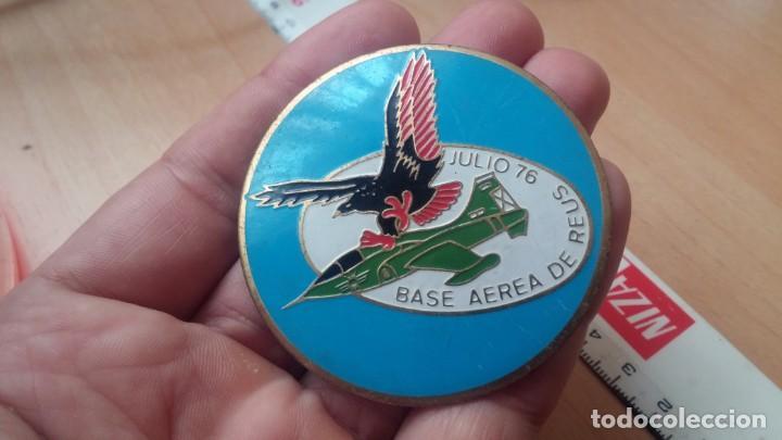 CHAPA GRANDE ESMALTADA BASE AEREA DE REUS 1976 (Militar - Insignias Militares Españolas y Pins)