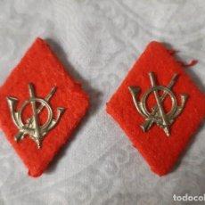 Militaria: ROMBOS CUELLO INFANTERIA AÑOS 40 O FINAL GUERRA CIVIL. Lote 194309413