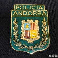 Militaria: ANTIGUA PLACA DE LA POLICIA DE ANDORRA.. Lote 194503152