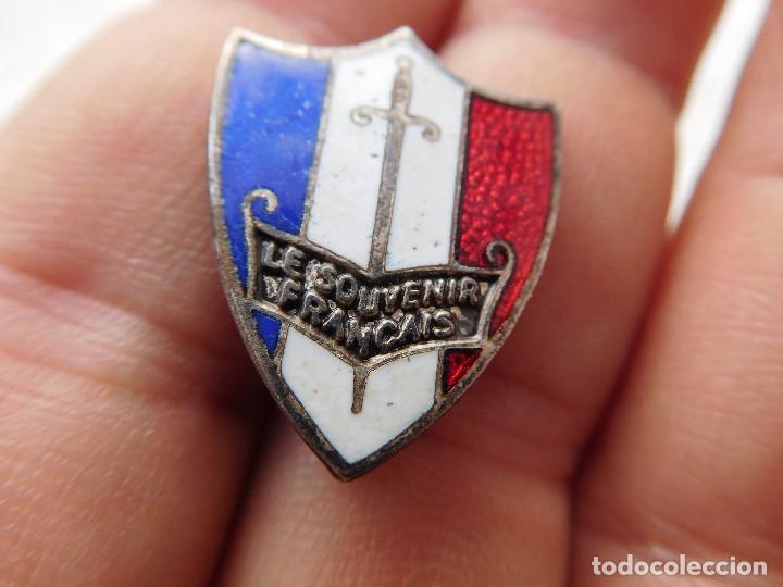 Militaria: Insignia original LVF Legión de voluntarios franceses Petain Hitler Vichy - Foto 2 - 194520528