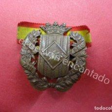 Militaria: SOMATENS CATALUÑA. INSIGNIA DE SOLAPA. PAU SEMPRE. CASTELLS. ESCUDILLERS. BARCELONA. Lote 194606288