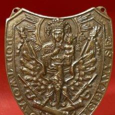 Militaria: RARO ESCUDO-METOPA DE BRONCE. MIDE 15 X 12,5 CM.. Lote 194612338