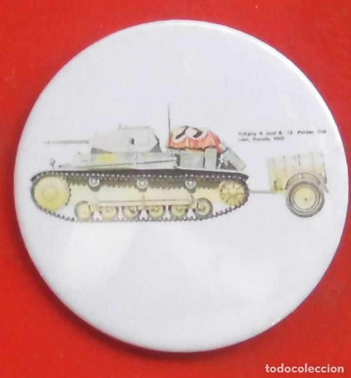 PANZER II DE 12ª PANZERDIVISION EN RUSIA. CHAPA NUEVA DE 57 MM (Militar - Insignias Militares Extranjeras y Pins)