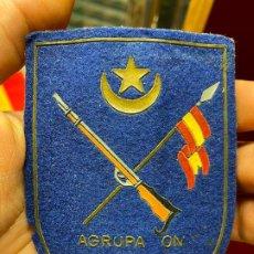 Militaria: PLACA MILITAR AGRUPACION DE TROPAS NOMADAS - ORIGINAL DE EPOCA - REVERSO METALICO. Lote 194735017