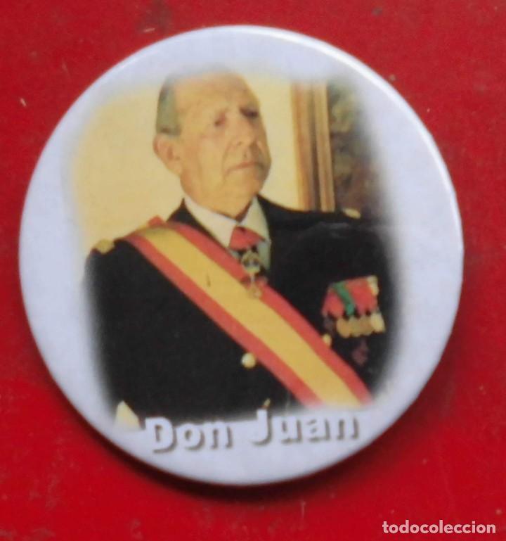 DON JUAN DE BORBÓN CONDE DE BARCELONA. CHAPA NUEVA DE 57 MM (Militar - Insignias Militares Extranjeras y Pins)