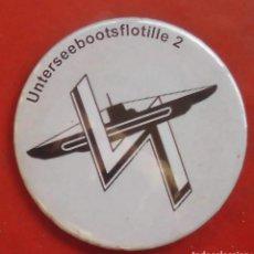 Militaria: UNTERSEEBOOTSFLOTILLE Nº 2 CHAPA NUEVA DE 57 MM. Lote 194763742