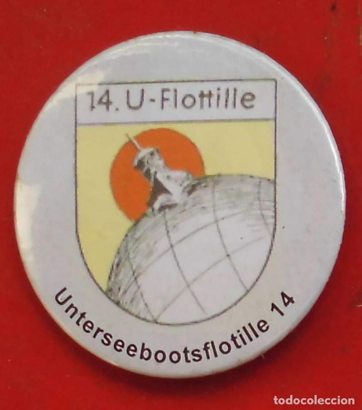 UNTERSEEBOOTSFLOTILLE Nº 14 CHAPA NUEVA DE 57 MM (Militar - Insignias Militares Extranjeras y Pins)