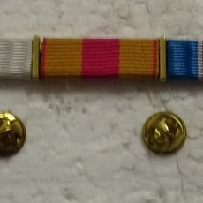 Militaria: PASADOR TRIPLE MILITAR. MEDALLAS. MISIONES INTERNACIONALES. CONSTANCIA SERVICIO. MERITO. . Lote 194884536
