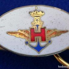 Militaria: INSIGNIA PISA-CORBATAS. ARMADA ESPAÑOLA.ALAS DE PILOTO. AERONAVAL.. Lote 194904942