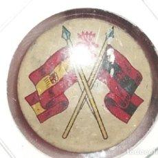 Militaria: CHAPA INSIGNIA DE OJAL DE LA FALANGE - GUERRA CIVIL - DIAMETRO 27 MM.. Lote 194917393
