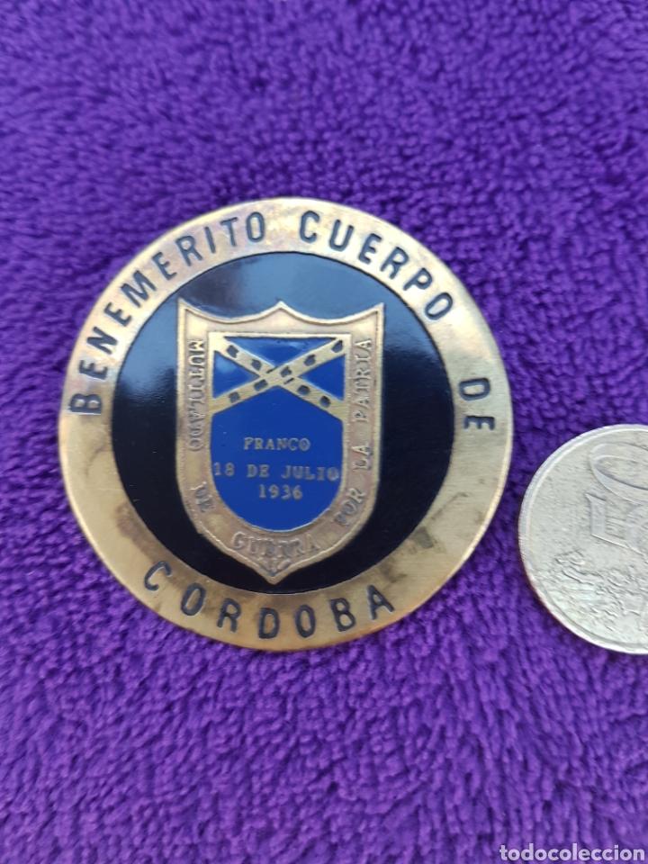 ANTIGUA PLACA ESMALTADA BENEMERITO CUERPO DE CORDOBA (Militar - Insignias Militares Españolas y Pins)