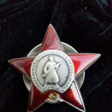 Militaria: ORDEN DE LA ESTRELLA ROJA EN PLATA MACIZA ORIGINAL. Lote 194954387