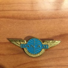 Militaria: ANTIGUA INSIGNIA PANAM - JUNIOR CLIPPER PILOT - AGUJA IMPERDIBLE. Lote 195048660