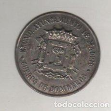 Militaria: EXCMO AYUNTAMIENTO DE MADRID. CUERPO DE BOMBEROS. 4 CM DE DIÁMETRO. Lote 47976159