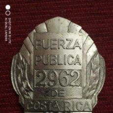 Militaria: PLACA POLICIA COSTA RICA ORDEN PUBLICO EN METAL FUERTE-DISTINTIVO POLICIAL . Lote 195328672