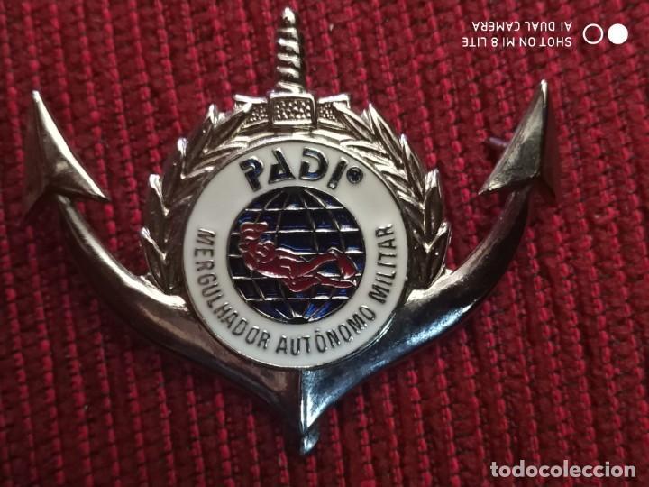 INSIGNIA POLICIA MILITAR DE BRASIL, DISTINTIVO POLICIAL MARITIMA (Militar - Insignias Militares Extranjeras y Pins)