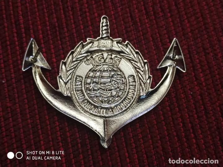 Militaria: Insignia Policia Militar de Brasil, Distintivo Policial Maritima - Foto 2 - 195339957