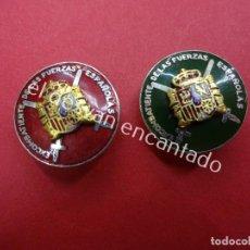 Militaria: LOTE DOS INSIGNIAS EXCOMBATIENTE DE LAS FUERZAS ESPAÑOLAS. Lote 195492026
