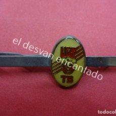 Militaria: UGT. TRANSPORTES DE BARCELONA. AGUJA DE CORBATA AÑOS 80S. Lote 195492186