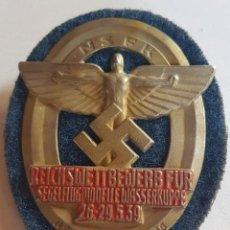 Militaria: INSIGNIA DE NSKK , WEHRMACHT , WAFFEN SS , TERCER REICH. Lote 195523676