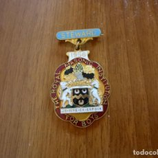Militaria: INSIGNIA MEDALLA MASÓNICA THE ROYAL MASONIC INSTITUTION OF BOYS STEWARD 1956. Lote 196363900