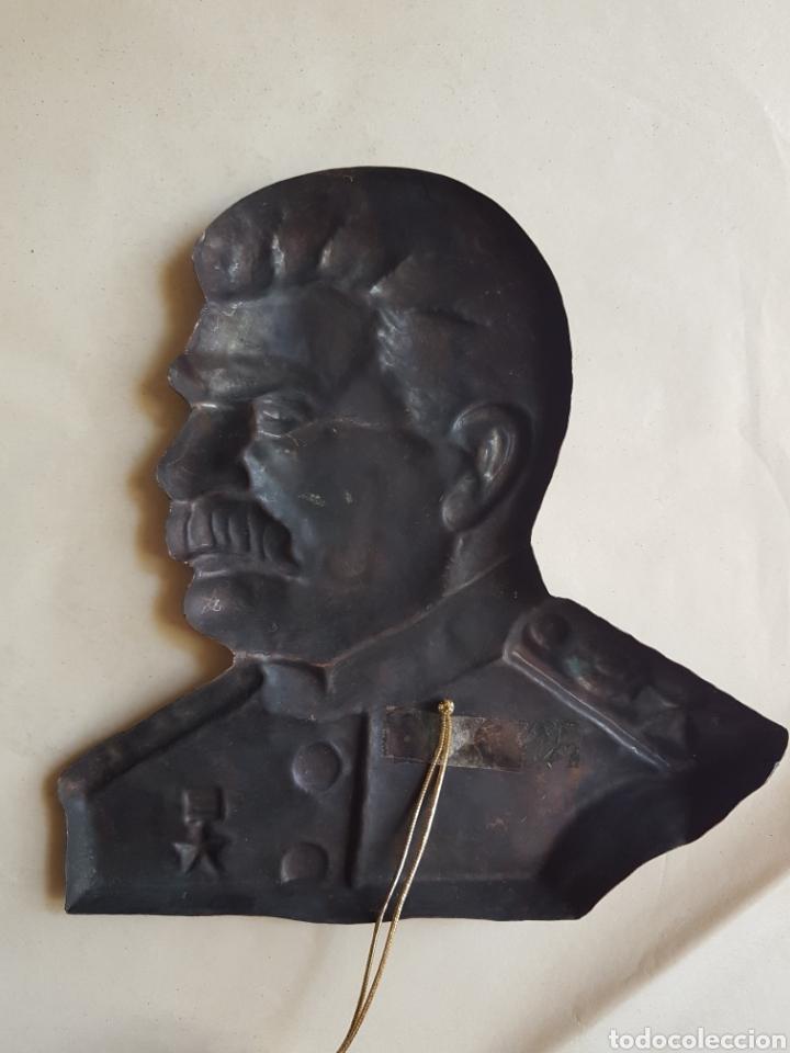 Militaria: Gran emblema Cobre de Stalin w - Foto 2 - 198611613