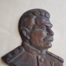Militaria: GRAN EMBLEMA COBRE DE STALIN W. Lote 198611613