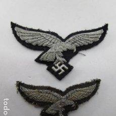 Militaria: EMBLEMA DISTINTIVOS LUFTWAFFE PARA OFICIAL GORRA Y PECHO SEGUNDA GUERRA ORIGINAL. VER FOTOS. Lote 198850597