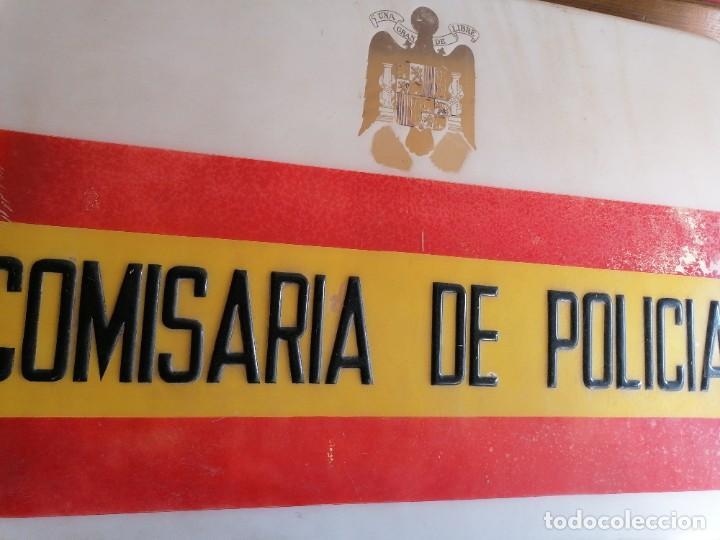 Militaria: Cartel de comisaría de la policía armada época de Franco - Foto 4 - 198900563