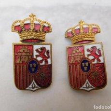 Militaria: 2 ANTIGUAS INSIGNIAS ESMALTADAS CASA REAL ESPAÑOLA?. Lote 199133202