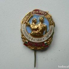 Militaria: PIN DE FESTIVAL Y ESPARTA QUIADA DE LOS AÑOS 50. Lote 199171766