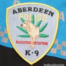 Militaria: PARCHE POLICIA. ABERDEEN POLICE K-9 NARCOTICS DETECTION (MARYLAND-ESTADOS UNIDOS). Lote 99646055