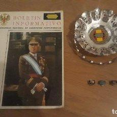 Militaria: LOTE INSIGNIAS SARGENTOS PROVISIONALES GUERRA CIVIL, CESTA HERMANDAD, REVISTA. Lote 111808491
