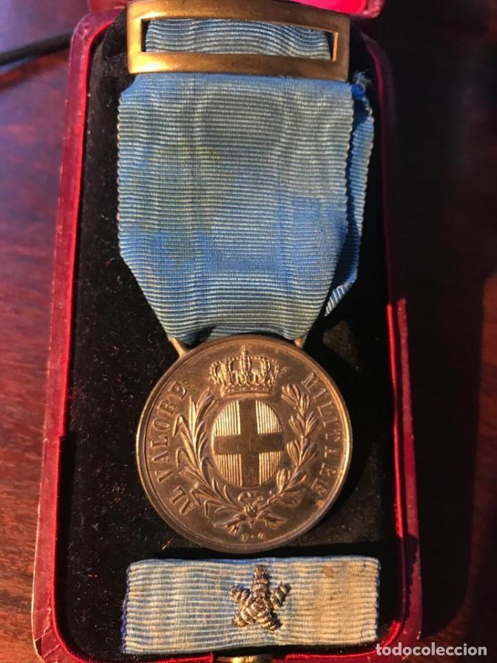 Militaria: Medalla Italiana al valor militar, PLATA, Guerra Civil. - Foto 3 - 203176507