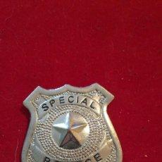 Militaria: INSIGNIA ESPECIAL DE OFICIAL DE POLICÍA DE SEGURIDAD, USA. Lote 203243595