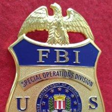 Militaria: INSIGNIA PLACA DE POLICIA FBI DE ESTADOS UNIDOS AGENTE ESPECIAL DE OPERACIONES ESPECIALES. Lote 203876402