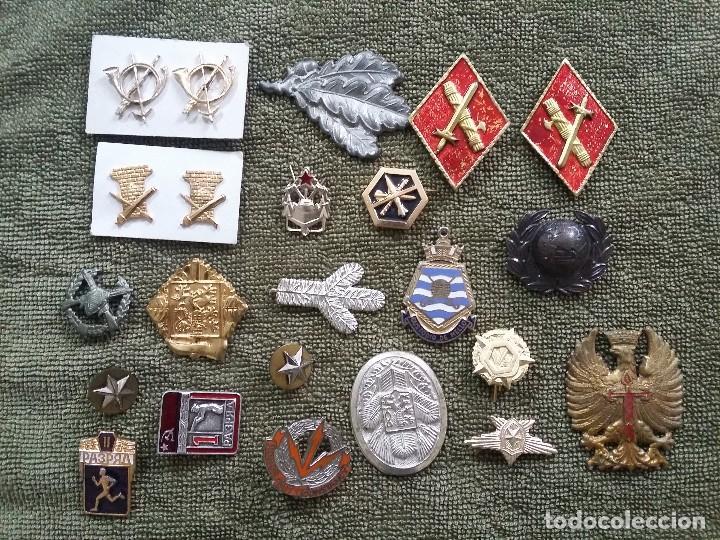 LOTE EMBLEMAS VARIOS (Militar - Insignias Militares Extranjeras y Pins)