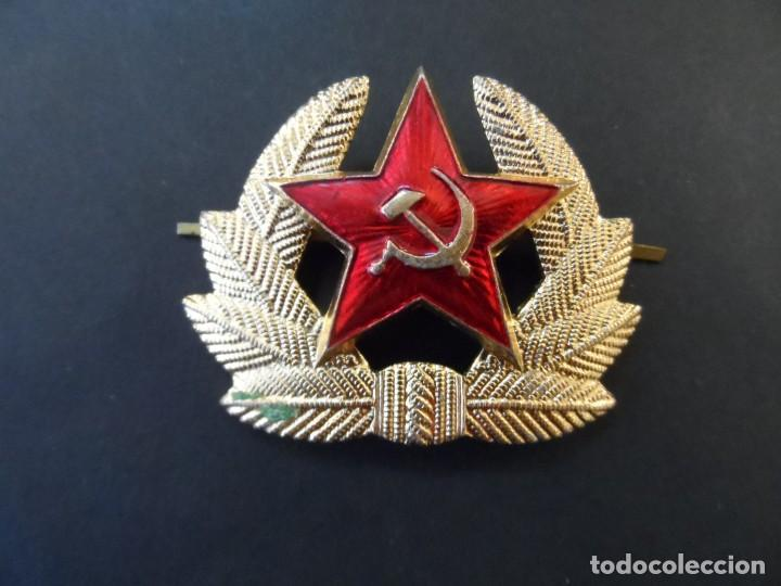 EMBLEMA DE GORRA DE MILITAR EJERCITO SOVIETICO. URSS. SIGLO XX (Militar - Insignias Militares Extranjeras y Pins)