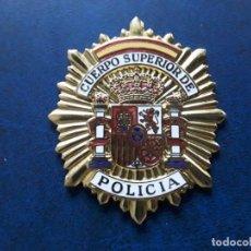 Militaria: ESPAÑA. PLACA CUERPO SUPERIOR DE POLICIA. ORIGINAL Y NUMERADA. EXCELENTE ESTADO.. Lote 204604680