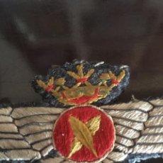 Militaria: ROKISKI AVIACION - EMBLEMA DEL EJERCITO DEL AIRE- REGLAMENTO DE 1946 Y USADO HASTA 1981 - 9X3.7CM. Lote 204755675