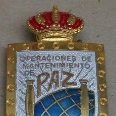 Militaria: PIN ESMALTADO OPERACIONES MANTENIMIENTO DE PAZ. Lote 205128547