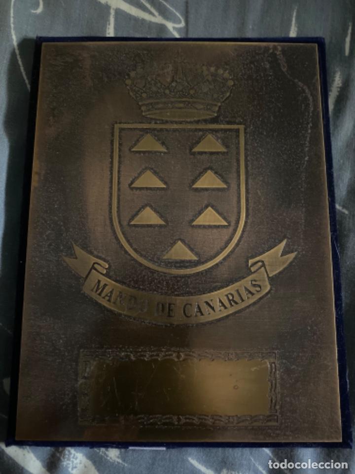 ANTIGUA PLACA MILITAR MANDO DE CANARIAS (Militar - Insignias Militares Españolas y Pins)