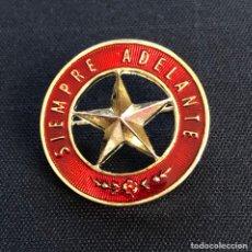 Militaria: INSIGNIA EXPLORADORES DE ESPAÑA (EDE). SIEMPRE ADELANTE. CON CIERRE DE AGUJA. Lote 205799631