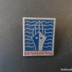 Militaria: INSIGNIA DE SOLAPA CIUDAD КАЛИННГРАД- KALININGRADO. CIUDADES DE LA URSS. SIGLO XX. Lote 206213285