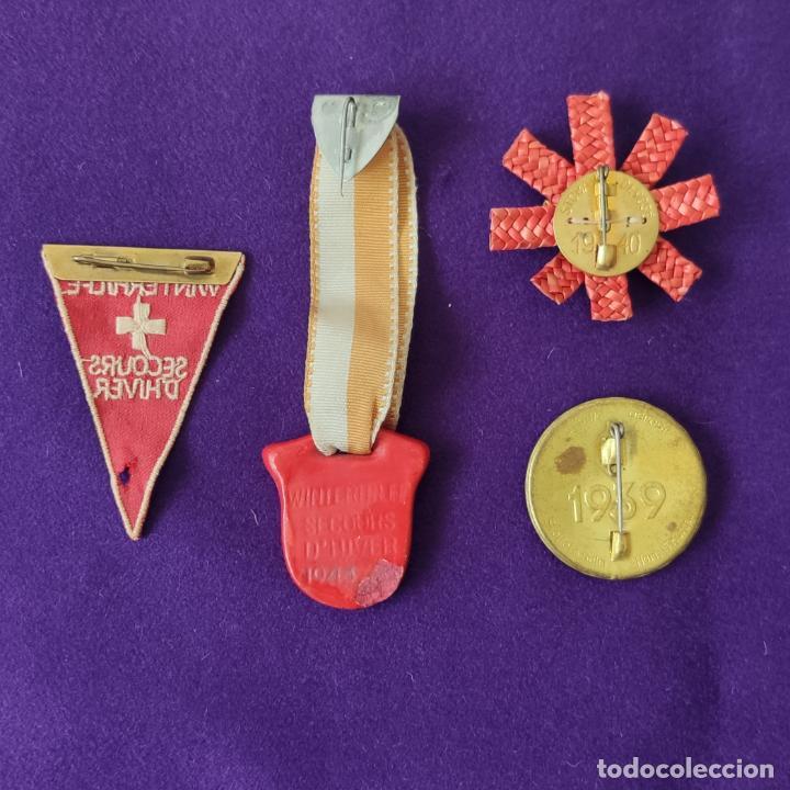 Militaria: 4 MEDALLAS DE AUXILIO DE SOCORRO DE INVIERNO. WINTERHILFE SECOURS D´HIVER. SUIZA. 1939-40-43. - Foto 2 - 206344926