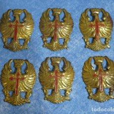 Militaria: 6 EMBLEMAS AGUILAS DE CASCO Z - TRUBIA - AGUILA CASCO. Lote 206444686