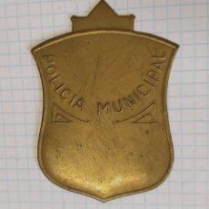 Militaria: CHAPA POR TERMINAR DE LA POLICÍA MUNICIPAL - PM. Lote 206802991
